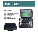 Massage gun in koffer - 30 standen – 6 opzetstukken _