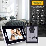 Draadloze video deurbel met 7 inch monitor met intercom en  nachtvisie_