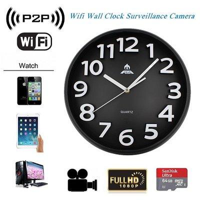 WiFi IP Spy Camera Wandklok
