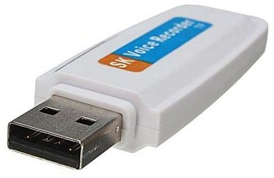 USB stick afluisterapparaat - wit