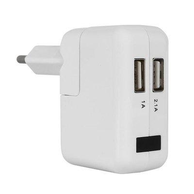 Spy Camera USB Oplader wit met Bewegingsdetectie