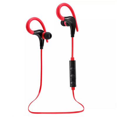 Bluetooth Sport Headset met Oorhaak - Rood