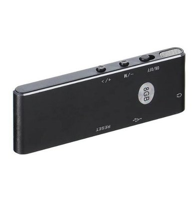 Professionele 8gb Voice recorder mp3 speler