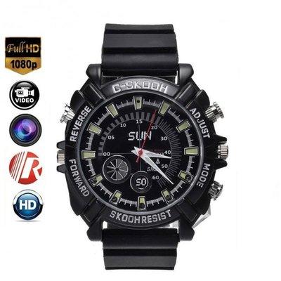 Spy horloge 8GB nachtvisie - Zwart met siliconen band