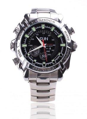 Spy horloge 8gb -zilverkleurig met stalen band