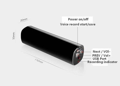 16GB voice recorder - mp3 speler met magnetische behuizing - 7 dagen continue opnemen!