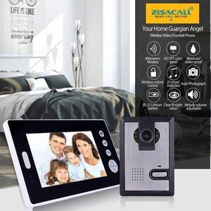 Draadloze video deurbel met 7 inch monitor met intercom en  nachtvisie