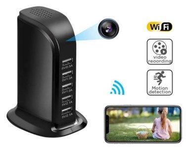 Wifi spy camera usb laadstation