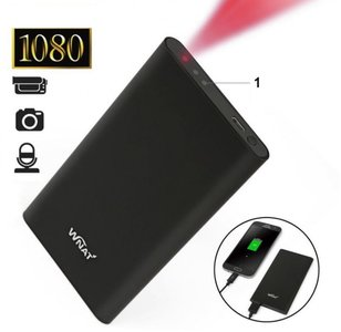 Spy camera powerbank met nachtvisie