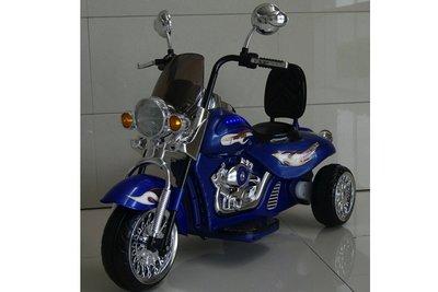 Kinder motor chopper - 12V rood of blauw